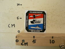 STICKER,DECAL CENTRAAL FILMBUREAU KRIJGSMACHT SPEELFILMS AIRPLANE ???