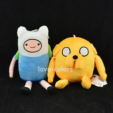 Set of 2 pcs Adventure Time with Finn and Jake New stuffed Soft plush toy dolls