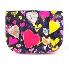 100% Authentic Tsumori Chisato Lambskin Leather Heart Patchwork Key Coin Card