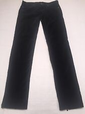 "*NWOT BCBG Maxazria Black velvet ""May skinny w/back leg zipper"" pants size 28"