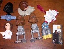 LOT OF 7 UNBAGGED BURGER KING STAR WARS TOYS Original - Prequel Characters Ships