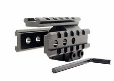 Tri- Rail See-Throug 20mm Picatinny Weaver 65mm Length 20mm Base Barrel Mount