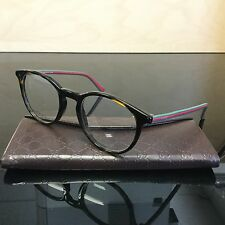 Gucci GG 1103 GG1103 Eyeglasses Dark Havana Green Red MK2 49mm