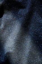 NEW Sz 10-14 Black & Blue Lurex Metallic Thread Pencil Wiggle Midi Stretch Skirt