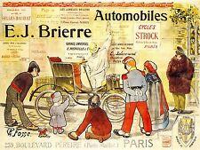 ADVERTISING AUTOMOBILE CAR BRIERRE PARIS RETRO FRANCE ART POSTER PRINT LV506
