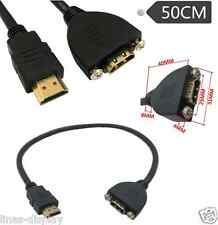HDMI Panel Mount Type Cable With Screws Male to Female HDMI Extension Cable 50cm