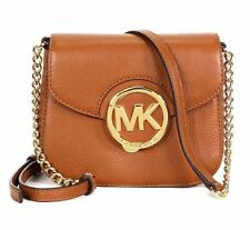 NEW Michael Kors Brown LUGGAGE Leather Small  Fulton Crossbody Bag  Purse