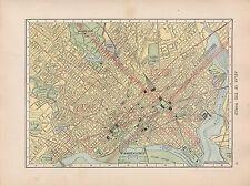 1909 mappa ~ città di Washington piano DINTORNI STREET edifici pubblici nella capitale