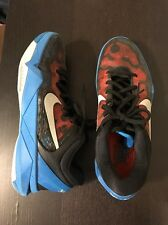 Nike Zoom Kobe VII 7 Red Blue Black Poison Dart Frog Men Sz 9