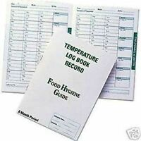 Temperature Log Book Record Food Hygiene Guide Catering