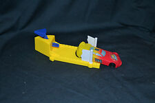 "Collectible Vintage Yellow NASCAR Racer Car & McD's launcher ""Set"""