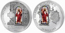 Cook Islands 2012 10$ WINDOWS HEAVEN ST. PETERSBURG Isaac Cathedral Silver Coin