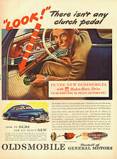 1946 Classic Car AD  '46 OLDSMOBILE Hydra Matic Drive  ART Car Interior 011815