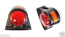 2x Red White Orange Side Outline Rear Marker Lights Trailer Truck Caravan Lorry