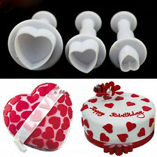 3D Love Heart Fondant Cake Chocolate Sugarcraft Mold Cutter Silicone DIY Tools
