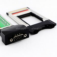 RS232 RS-232 ExpressCard/34mm Express Card Serial Com Port Laptop+PCMCIA Adapter