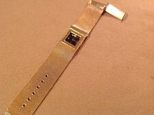 Women's Linda Dano Quartz Bracelet Watch ( Wide Gold Tone Band ) Analog