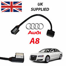 AUDI A8 2011- 2014 4F0051510R iPhone iPod AUDIO & VIDEO USB 27cm CABLE (RED)
