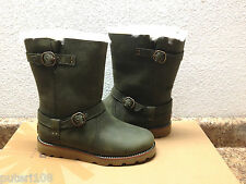 UGG NOIRA PINENEEDLE OLIVE GREEN LEATHER BOOTS US 6 / EU 37 / UK 4.5