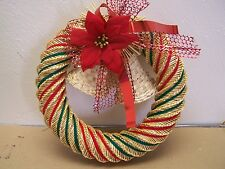 Medium Handwoven Straw and Reed Christmas Wreath - Mexico