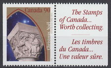 Canada #1587as 90¢ Christmas Capital Sculptures + Label from Booklet MNH