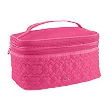New Lug Travel TWO STEP Cosmetic Train Case Two Tiered Make Up Bag PINK gift