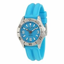 New Nautica Women Midsize Aqua Silicone Band Date Watch 40mm N11526M $115