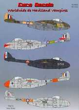 Euro Decals 1/72 DE HAVILLAND VAMPIRE British Jet Fighter