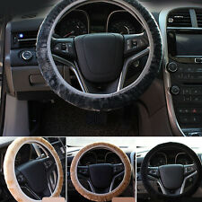 Winter Plush Car Steering Wheel Cover Car Accessory Grips Auto Solid 4 Colors