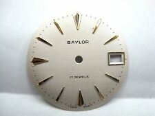 Antique Gents Baylor Auto/Date White Watch Dial, 29.5mm 17 Jewels