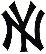 REFLECTIVE New York Yankees 2 inch black fire helmet decal sticker yeti FDNY