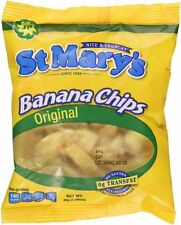 St Mary's Banana Chips 1.06 Ounce Gluten Free All Natural Snack - 24 Packs