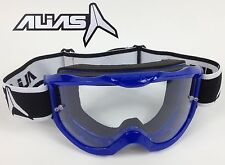 ALIAS RIVAL MOTOCROSS MX BIKE ENDURO GOGGLES BLUE spy magneto yamaha cheap new