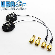 2pcs The Node™ 5.8GHz FPV Antenna Circular Polarized RHCP RP-SMA +SMA Adapter