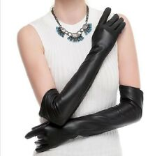 Women's PU Leather Soft Long Opera Stage Theatre Wedding Party Evening Gloves
