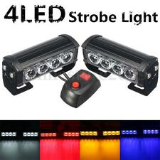 2 Car Truck 4LED Strobe Hazard Emergency Flashing Police Warning Grill Light 12V