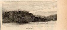 Stampa antica DULCIGNO ULCINJ dal mare Montenegro Crna Gora 1897 Antique Print