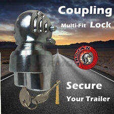 TRAILER PARTS UNIVERSAL HITCH COUPLING LOCK FITS INTO TOW BALL SOCKET ANTI THEFT