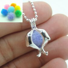 Hollow Dolphins Locket Aromatherapy Essential Oil Diffuser Pendant Necklace