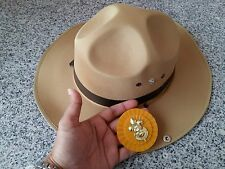 Boy Scout Adult Stetson Safari Khaki Brown Master Baden Badge Cowboy Sheriff Hat