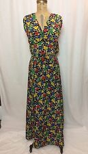 Vintage 1940's 2Pc Floral, Silk Crepe, Skirt And Halter Top, Xs, Ww2