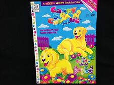 Lisa Frank CASEY & CAYMUS Dogs Golden Retrievers STICKER & COLORING BOOK 1996