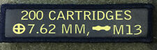 1x4 7.62 Nato 308 Ammo Can Morale Patch Tactical Milspec M14 FAL DEVGRU Army