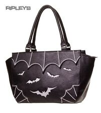 BANNED Clothing PVC Faux Leather Handbag Bag GOTHIC BATS White