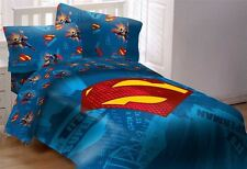 DC Comics Superman Kids Comforter Bed Set 5pcs Full Size