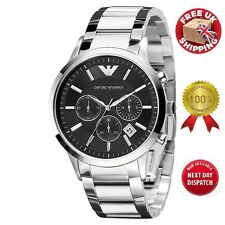 EMPORIO ARMANI AR2434 MEN'S STEEL WATCH WITH BOX/ 1 WORKING DAY FREE DELIVERY!!!