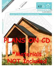 DOG HOUSE PLANS - Step By Step CAD Drawings - How To Build a Doghouse Guide - 02