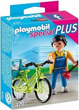 4791 Fontanero con bicicleta playmobil,especial,special plumber with bike