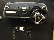 2014 Smart Car ForTwo 451 AIRBAG KIT COMPLETE WITH PADDLE SHIFT STEERING WHEEL