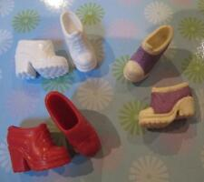 Lot Mattel Barbie Doll Fashionista 1990s Classic ANKLE Short Boots Shoes 3 Pairs